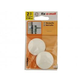 Самозалепващ стопер за врата Fix-o-moll - ф40 мм, Бял