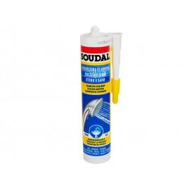Санитарен силикон за кухни, бани и влажни помещения Soudal - 300 мл, Бял