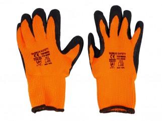 Чифт зимни защитни работни ръкавици топени в латекс Thor Winter