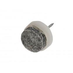 Пластмасова мебелна стъпка с пирон и кече KAMA - ф17 мм, Бял