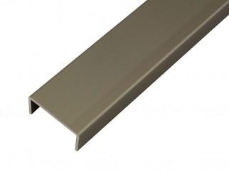 Алуминиев П-образен кант профил за мебели PNC18 - Шампанско