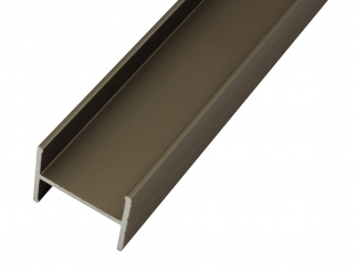 PPH18 Aluminium H-shaped Profile For Furniture Boards - Champagne