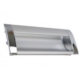 Алуминиева мебелна дръжка за вкопаване KAMA 326 - 96 мм