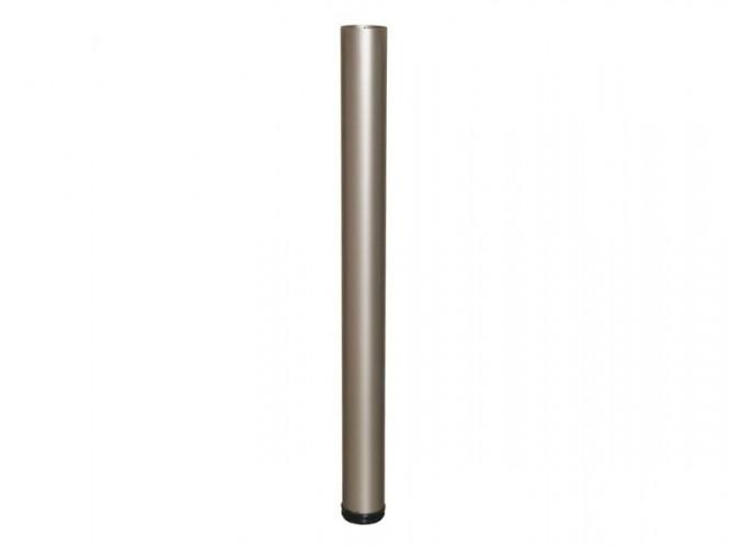 Метален крак за бюра и маси с регулиране - 710 мм, Сатен