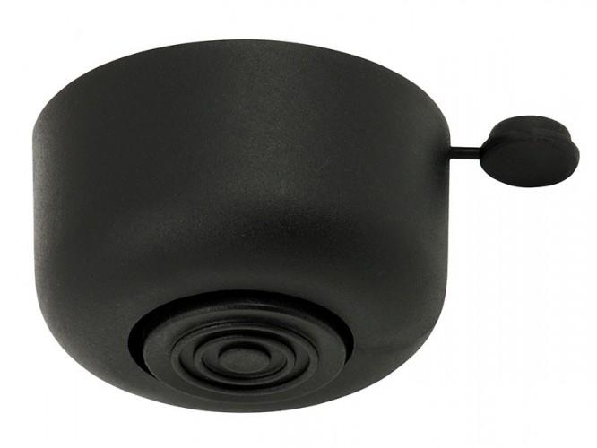 Пластмасова мебелна стъпка с регулиране - 26 мм, Черен