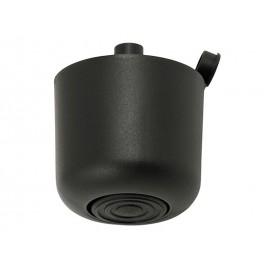 Пластмасова мебелна стъпка с регулиране - 43 мм, Черен