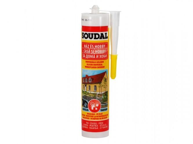 Универсален силикон Soudal - 300 мл, Прозрачен