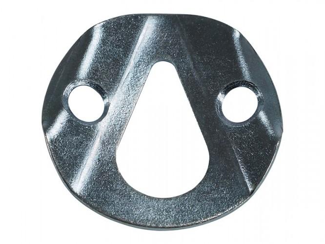 Усилена метална планка с крушовиден отвор за окачване - ф35 мм