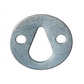 Плоска метална планка с крушовиден отвор за окачване - ф35 мм
