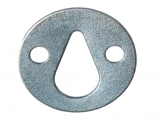 Flat Metal Plate With Pear-shaped Suspension Hole - ∅35 mm