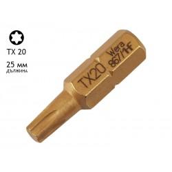 Накрайник (бит) за отвертки Wera 867/1 HF - 25 мм, TX 20
