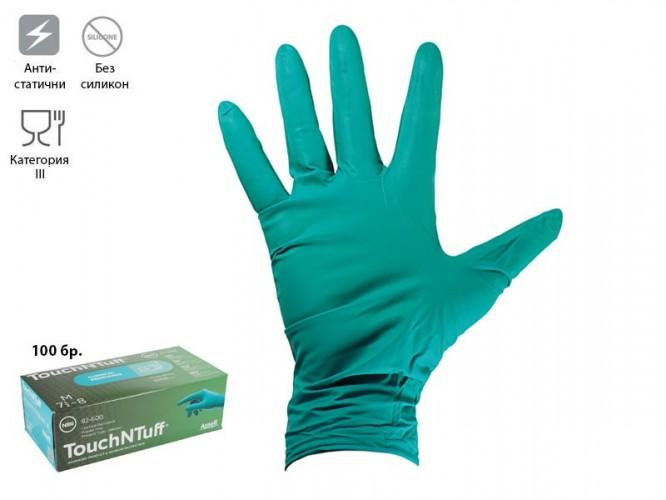 Ръкавици от нитрил за еднократно ползване Ansell TouchNTuff 92-600, М, 100 бр.