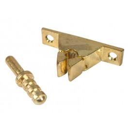 Метален стопер със заключване за интериорни врати IBFM - Злато