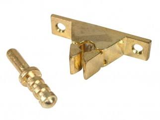 Metal Door Stopper With Locking Mechanism - Gold