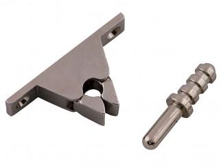 Metal Door Stopper With Locking Mechanism - Chrome
