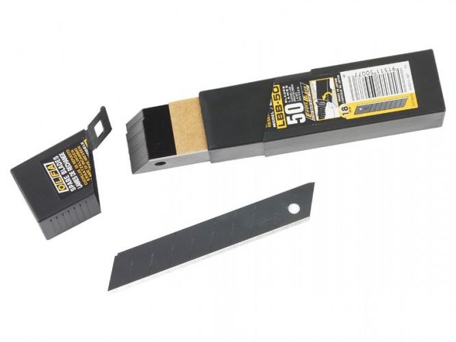Резци (режещи пластини) за макетни ножове OLFA Excel Black LBB - 18 мм, 50 бр.