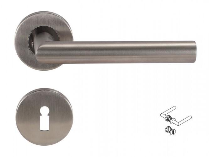 Дръжки за интериорни врати Dormakaba Pure 8906 - Обикновен ключ, Инокс