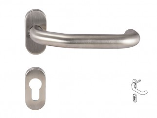 Dormakaba Pure 8100V Handle For Narrow Stile Doors - For Cylinder, Inox, Right