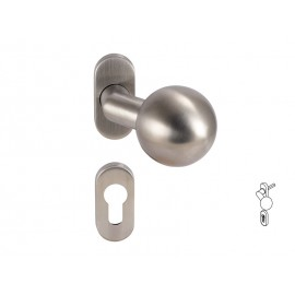 Dormakaba Pure 3548V Knob For Narrow Stile Doors - For Cylinder, Inox