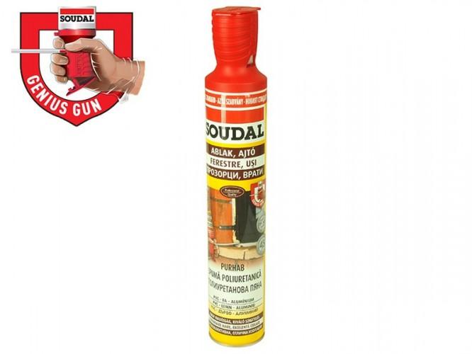 Ръчна монтажна полиуретанова пяна с апликатор Soudal Genius Gun - 750 мл