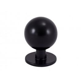 Дръжка за мебели KAMA 8125S - ф19 мм, С един винт, Черен