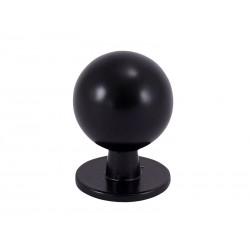 Черна дръжка за мебели 8125S - ф19 мм, С един винт