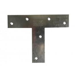 Т-образна плоска метална планка DMX KT 140 - 140 х 110 х 30 мм