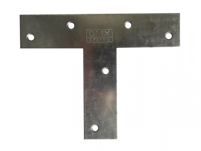 Т-образна плоска метална планка KT 140 - 140 х 110 х 30 мм