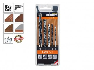 Alpen Holz TM 5 Wood Drill Bits Set
