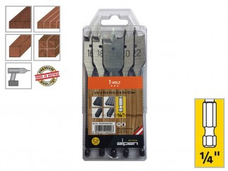 Alpen Holz Flat Wood Bits Set