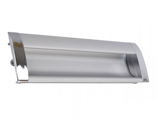 Алуминиева мебелна дръжка за вкопаване 326 - 128 мм