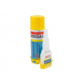 Ултрабързо лепило с активатор Soudal 2C - 50 гр + 200 мл