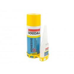 Ултрабързо лепило с активатор Soudal 2C - 100 гр + 400 мл