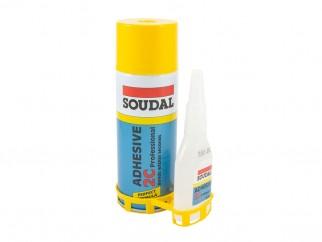 Soudal 2C Professional Fast Adhesive Set Actıvator & Glue - 100 g + 400 ml