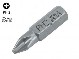 Накрайник (бит) за отвертка Wera Classic - 25 мм, PH 2