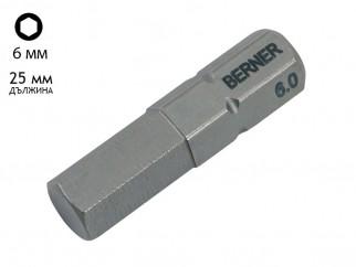 Бит накрайник шестостен за винтоверт Berner SW - 6 мм