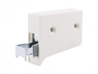 Окачвач за лайстна за кухненски шкафове с регулиране - Бял