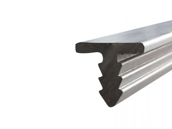 Алуминиев набивен т-образен кант профил за мебели - 3 метра