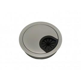 Metal Cable Rosette - ∅60 mm, Matt Chrome