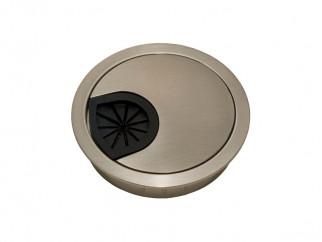 Метална розетка за кабели - ф60 мм, Инокс