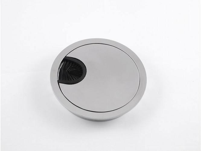 Метална розетка за кабели - ф80 мм, Хром мат