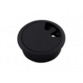 Plastic Cable Rosette - ∅60 mm, Black