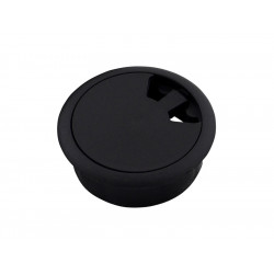 Пластмасова розетка за кабели - ф60, Черен