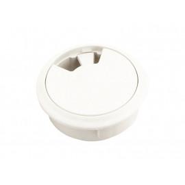 Пластмасова розетка за кабели - ф60, Бял