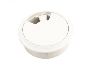 Plastic Cable Rosette - ∅60 mm, White
