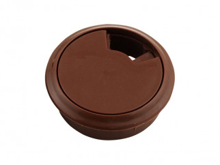 Plastic Cable Rosette - ∅60 mm, Brown