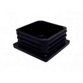 Square Tube End Cap - 50 x 50 mm, Black