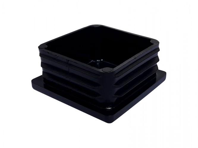 Тапа за квадратна тръба или профил - 50 х 50 мм, Черен