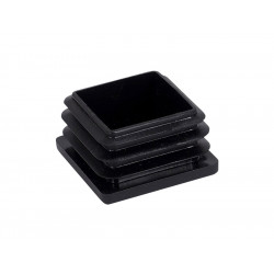 Тапа за квадратна тръба или профил - 40 х 40 мм, Черен