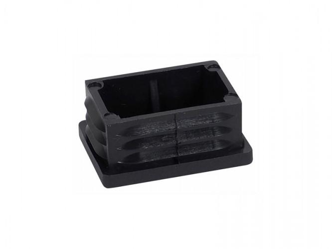 Тапа за правоъгълна тръба или профил - 40 х 30 мм, Черен